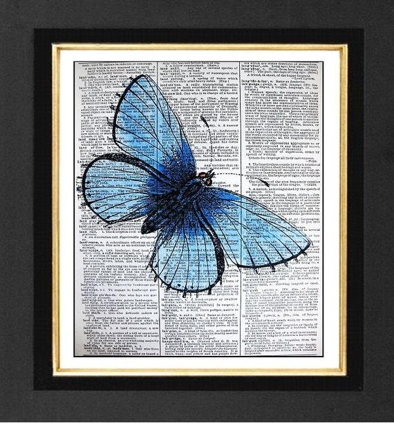 ART PRINT ORIGINAL VINTAGE MUSIC SHEET Page TRUMPET Flower POSTER BUTTERFLY ART