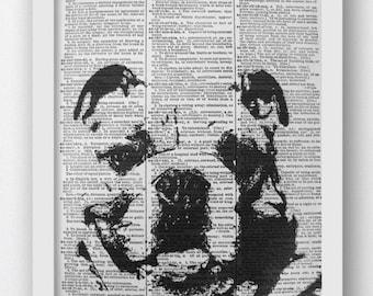 English Bulldog Dictionary Print, Animal Humor, English Bulldog Print, English Bulldog Art Print,  Bulldog Size A4, 8x10 Bulldog Picture