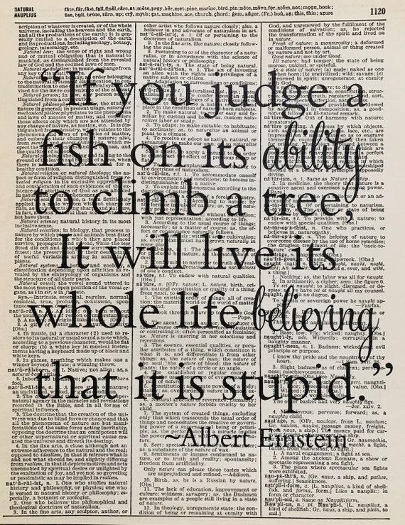 Albert Einstein Zitat Wenn Sie Einen Fisch Einstein Zitate Beurteilen Ob Sie Einen Fisch Auf Seine Fähigkeit Zitat Drucke Druck Mit Einstein