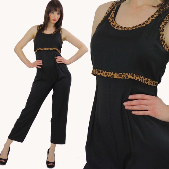 6f46b4844126 Black jumpsuit boho romper tapered leg sleeveless High waist