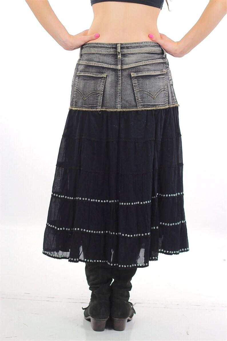 4dcf99bd1 Denim Skirt 90s Acid wash Jean Grunge Vintage 1990s High   Etsy
