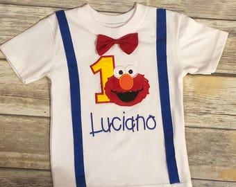 Little Monster Birthday Boy, Monster Birthday Shirt, Personalized Birthday Shirt, First Birthday Shirt, Monster Birthday Outfit, Suspenders