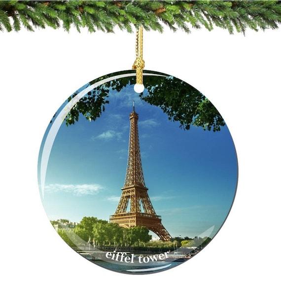 Paris Christmas Ornament.Paris Eiffel Tower Christmas Ornament With River Seine Porcelain 2 75 Inch Paris Christmas Ornaments