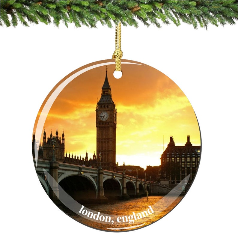 London UK Glass Ball Christmas Ornament 3.25 Inches Big Ben