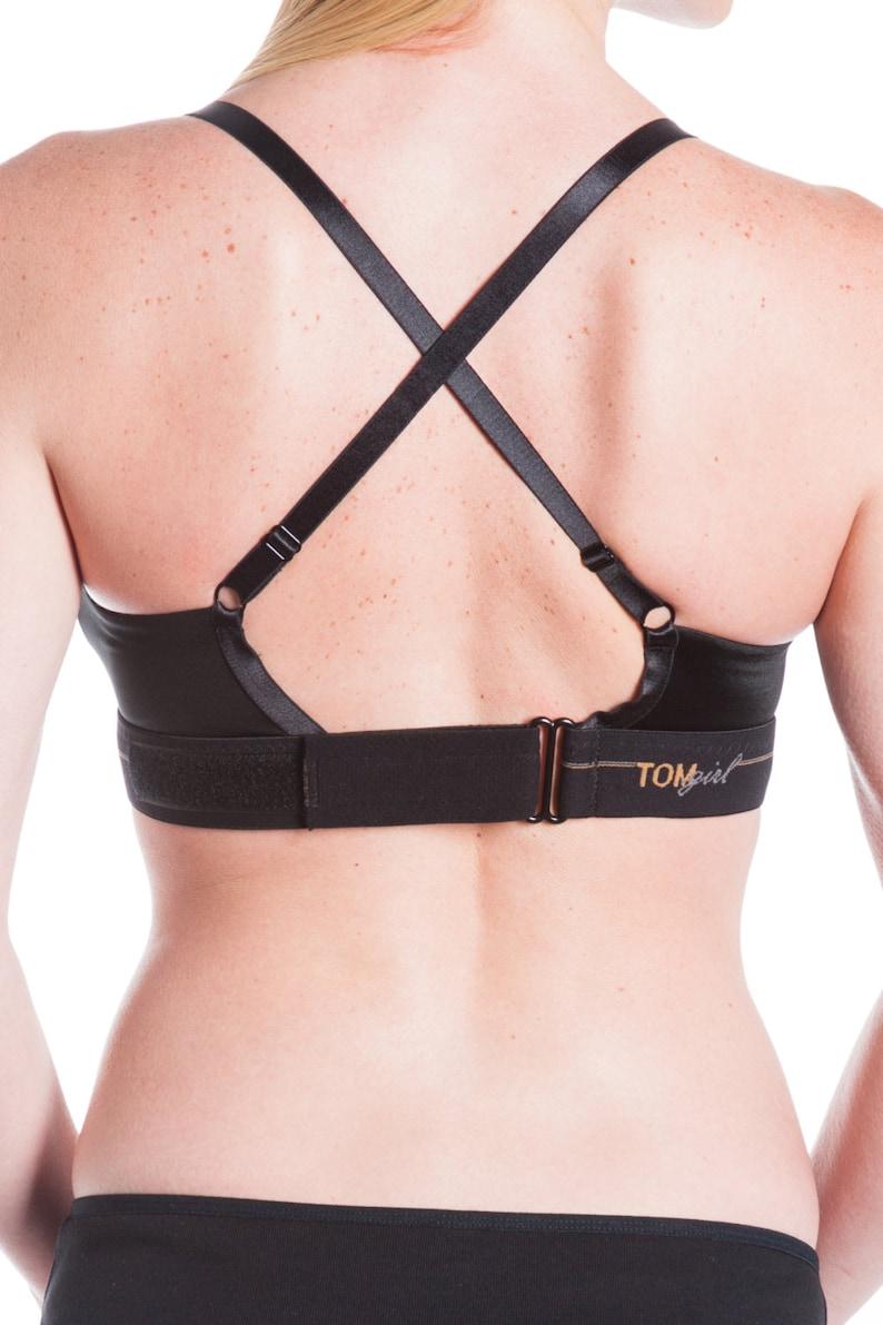 Cross Back Bra Petite Bra Bra for Small Breasts Wireless Bra Supportive Bralette Convertible Bralette 36B Black Bralette Yoga Bra