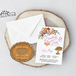Lucky In Love Lingerie Invite  Pancakes and Panties Shower   Bachelorette Shower Invite  Bachelorette Party Invite
