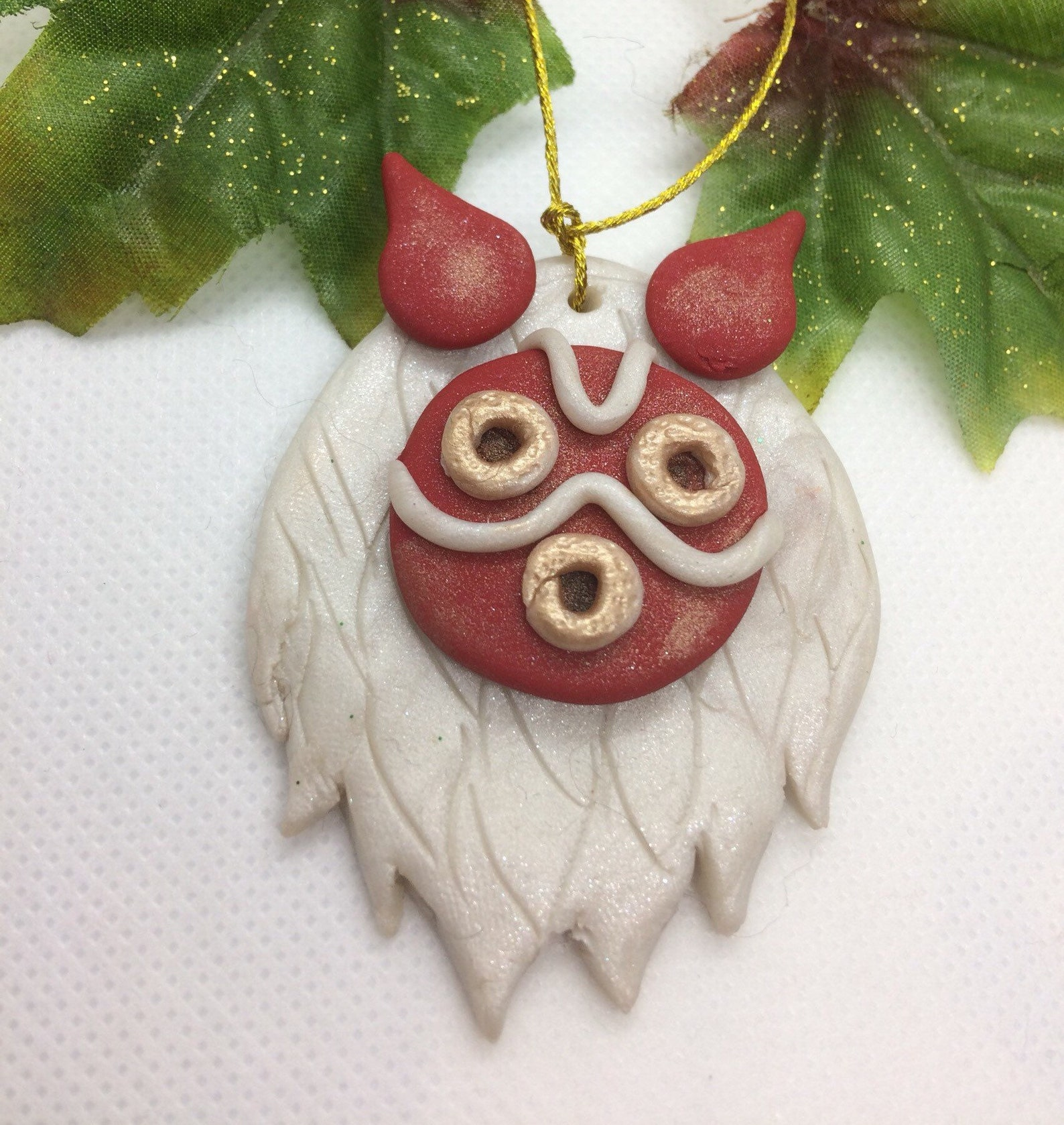 Princess Mononoke San Mask Christmas Ornament