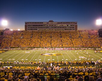 Faurot Field at Night - Mizzou Photography - First SEC Game, University of Missouri, SEC Football - Mizzou Print, Mizzou Tigers