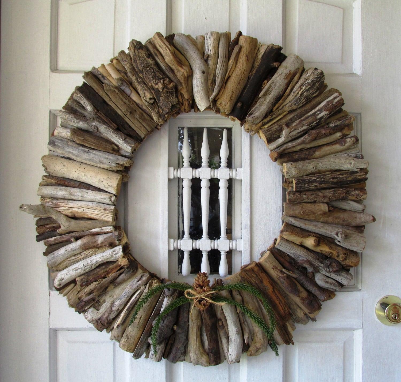 Home Decor Wreaths: Driftwood Large Wreath Rustic Home Decor Beach Home Decor