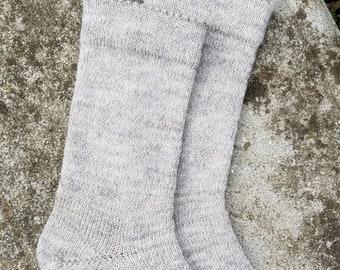 1910 Shepherd Gotland Wool Socks in Natural Silver -Women's size 6-7