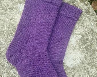 1910 Shepherd Socks-Hand Dyed Purple Moon-Made to Order
