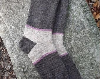 1910 Shepherd Socks-Color Block Socks, Men or Women's sizes MADE TO ORDER