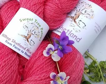 Hilltop Shetland Fingering/Sock weight Hand Dyed-Scarlet
