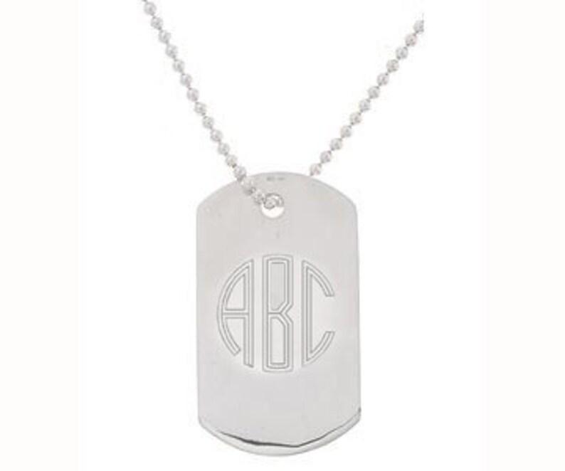 a2e36d95253cc Men s Jewelry Monogram Neckalce Military Style ID