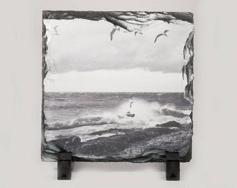 PhotoSlate, Lake Storm Five Mile Point Design, Home Décor, Artistic, Photograph