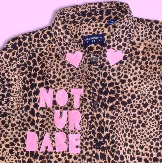1990s LIZSPORT Leopard Print Long Sleeve 'Not Ur B