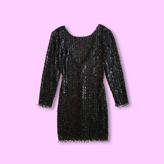 1990s FREDERICK'S OF HOLLYWOOD Black Sequin Covere