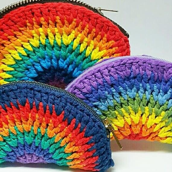 Häkeln Sie Regenbogen Geldbörse handgemachte Geldbeutel   Etsy