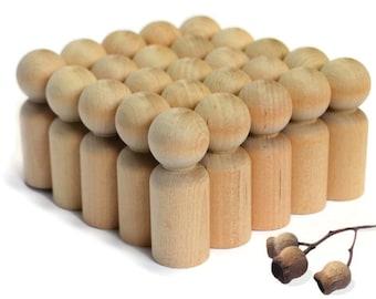 25x MEDium Wooden PEG DOLLS bulk * Blank -Wooden peg dolls - 'brother' size > wood pegdolls Waldorf Montessori - Make craft kits! Australia