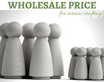 100x Bulk Order Wooden Peg Dolls *Wholesale* 50 Large 'Mama' + 50 medium 'sister' Blank peg doll - Australia & United States CHRISTMAS ANGEL