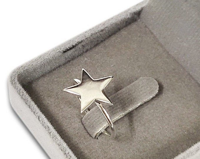 Star Silver Stacking Ring 925 Sterling Celestial Ring  Twinkle Silver Ring  Stackable Silver Ring Dainty Star Ring Minimal Ring Star Jewelry