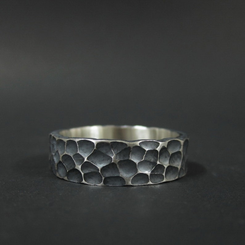 .925 Silver Band Sterling Silver Men/'s Wave Designed Band Ring