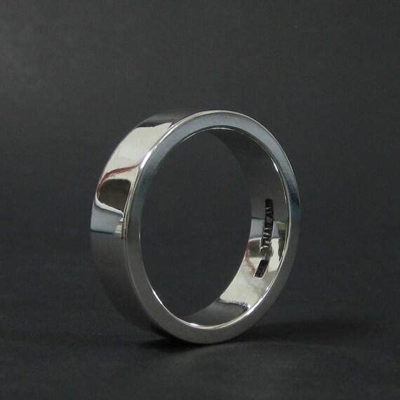 6 Mm Breed 2 Mm Dikke Mannen Zilver Wedding Ring Plain 925 Sterling Silver Band Ring Vrouwen Ringen Instructie Ring Verjaardag Overeenkomstengift