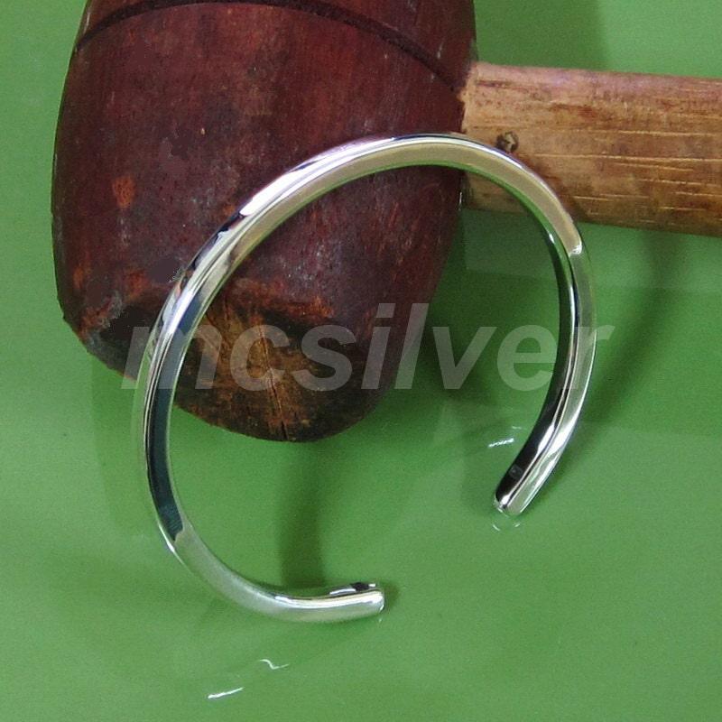 5a1ea572e Square Cuff Plain 925 Sterling Silver Square Cuff Bracelet   Etsy
