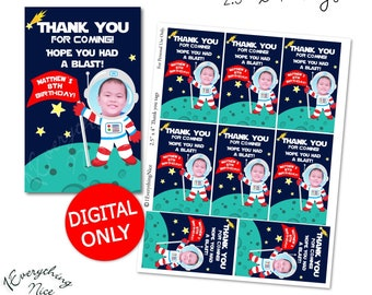 DIGITAL DOWNLOAD Outer Space Out of this World Theme Favor Thank You Tags Printable Digital Download