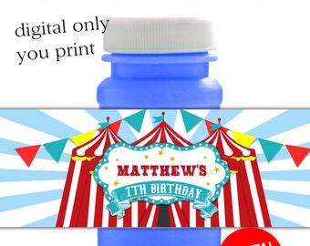 2oz Bubble Bottle Labels Digital Download Printables