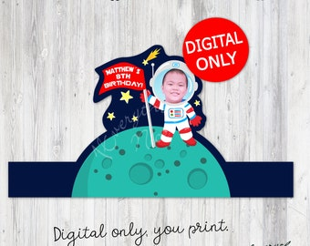 DIGITAL DOWNLOAD Outer Space Out of this World Space Theme Cake Topper Digital Printable