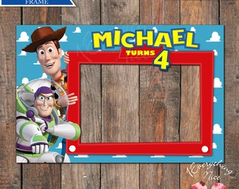 "Toy Story Birthday 24"" x 36"" Landscape Photo booth Frame Digital Download"