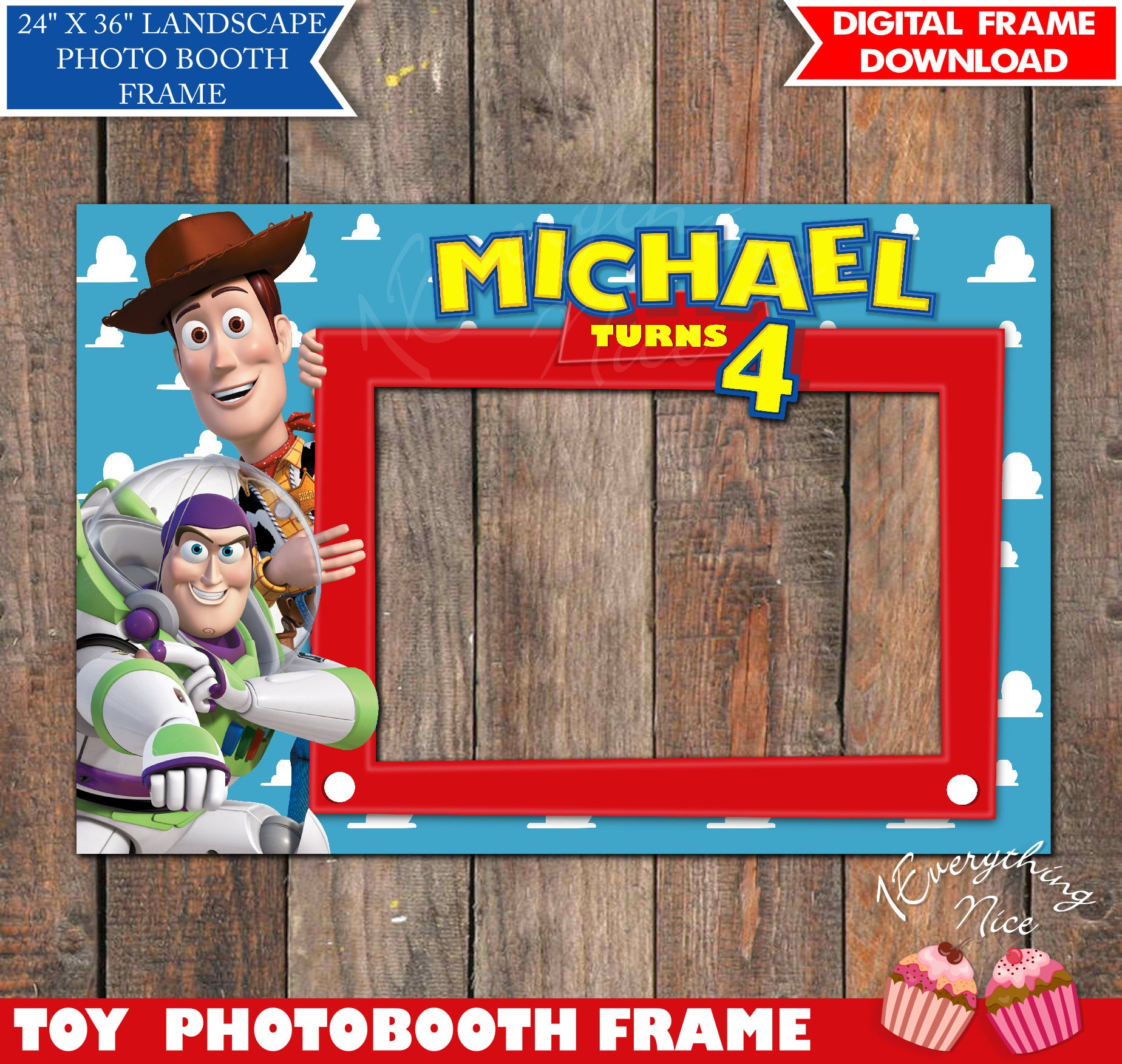 Toy Story Birthday 24 x 36 Landscape Photo booth | Etsy