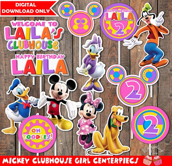 Mickey Mouse Clubhouse Girl Theme Happy Birthday