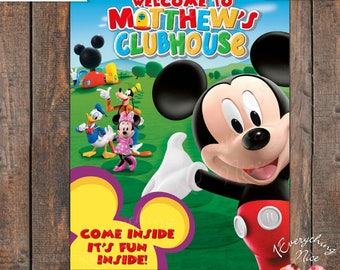 Mickey Mouse Clubhouse Sign PERSONALIZED