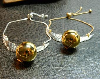 Adjustable Flying Golden Ball Locket Bracelet. Magical.Wizard.