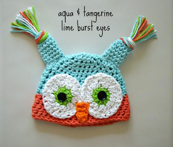 Owl Knit Hat Crochet Owl Beanie Knit Owl Hat Owl Hat Etsy