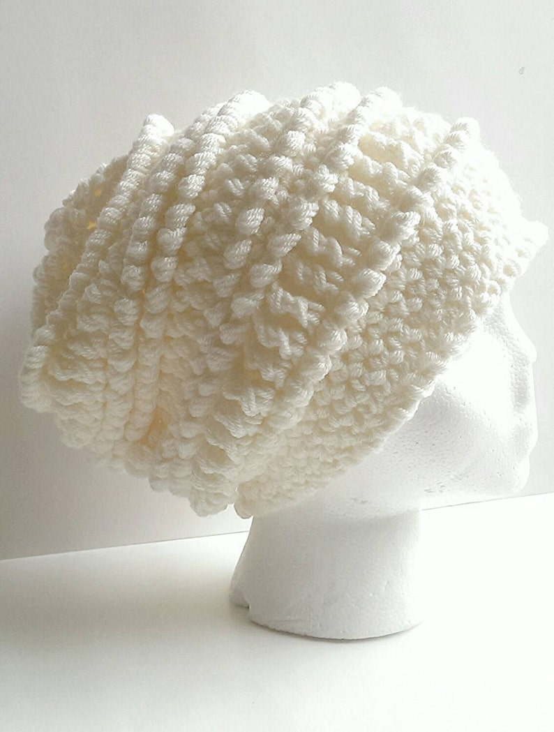 47d974dfba8c0 Crochet textured slouch hat handmade slouchy beanie knit