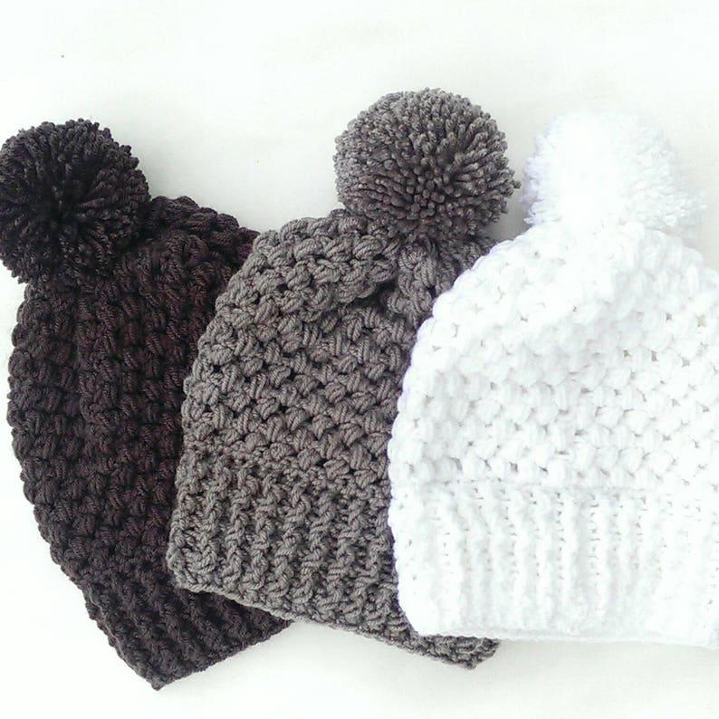 4fa08f3c8d9 Pom pom crochet beanie knit beanie with pom pom winter