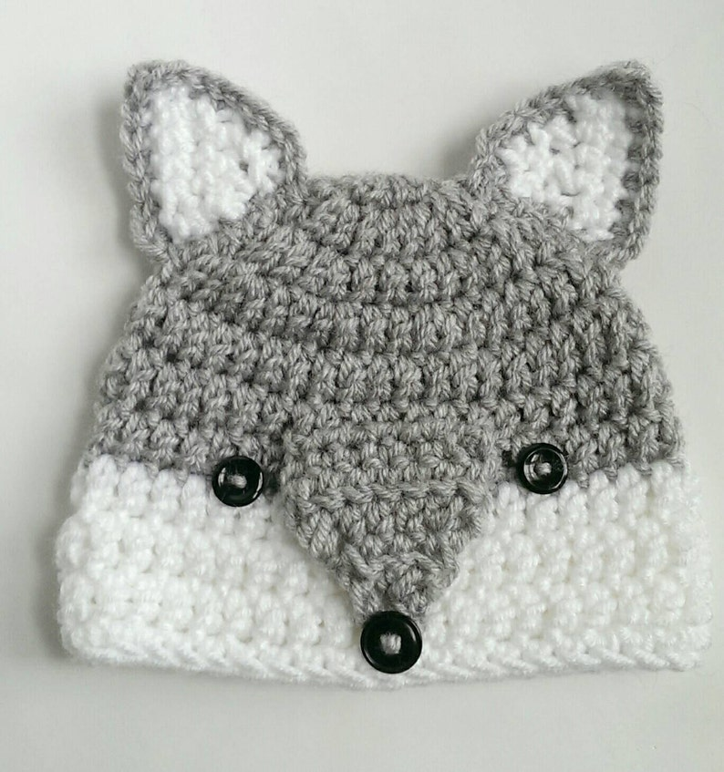 Wolf Hat Woodlands Animal Handmade Crochet Knit Hat Etsy