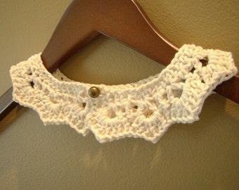 Peter pan crochet collar for children