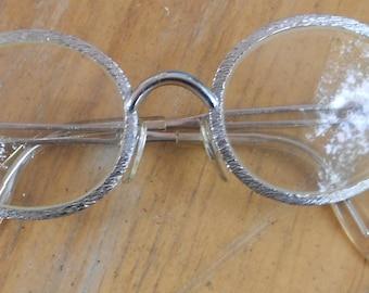 Vintage Ropco Eyeglasses Frame West Germany G.F. 12K 4 silver 1950s frames 8/20 Perscription lenses