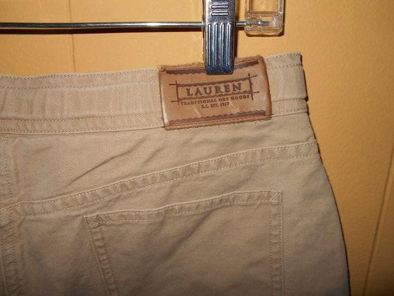 91177d98d98c Shorts Ralph Lauren 12 petite Cotton canvas 5 pocket belted