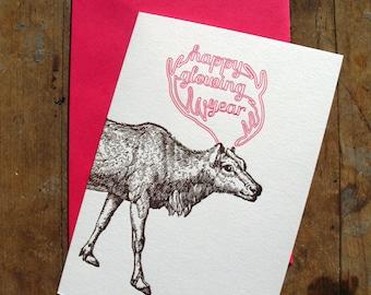Happy glowing year - Letterpressed card