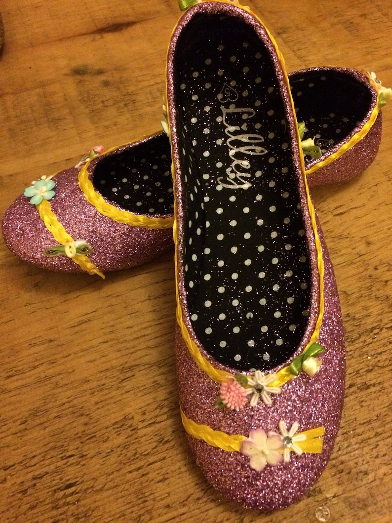 ee215993bb77 Tangled inspired rapunzel shoes plus braid