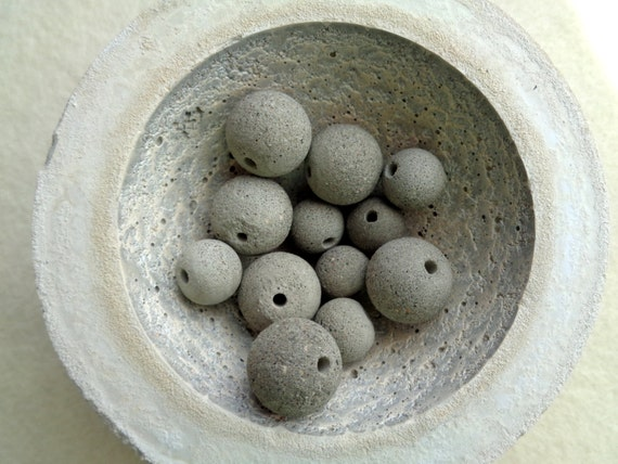 Concrete beads set of 12 hand casting beads do it yourself solutioingenieria Images
