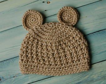 Little Bear Crochet Beanie Size Preemie-Child