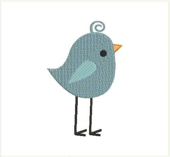 74a27fe174f3b Cute Little Bird Machine Embroidery Design 4x4 5x7 Bernina Brother Pfaff  Husqvarna and More
