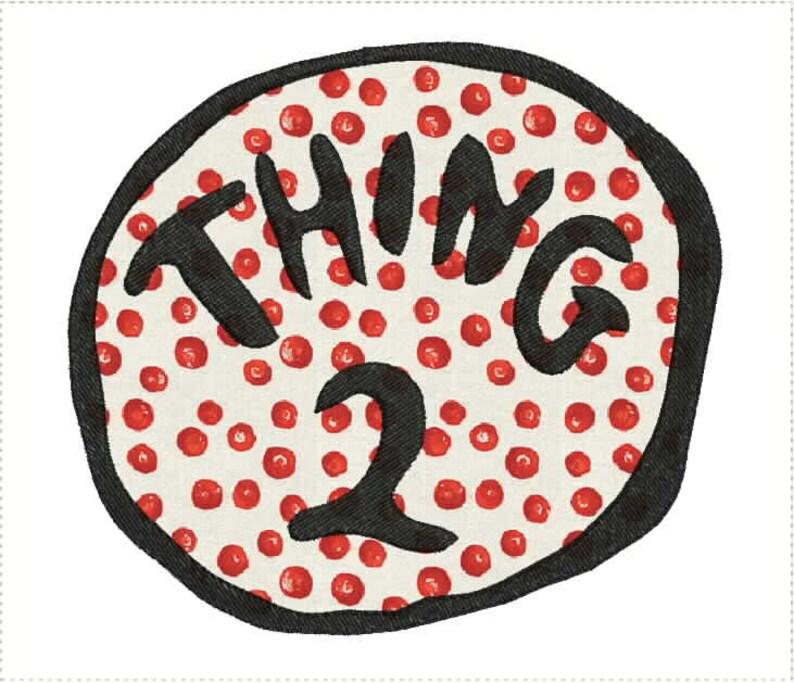 de43e05f7edf9 Dr. Seuss Thing 2 Applique Machine Embroidery Design 5x7 Bernina Brother  Pfaff Husqvarna and More