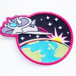 triceratops spaceship iron on patch